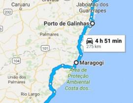 Roteiro de Maceió a Recife de carro alugado – ótima idéia
